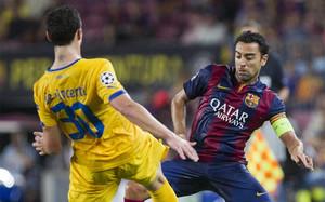 Xavi jugó su partido 142 en la Champions