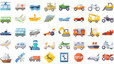 amazing-transportation-flat-icons-set