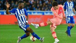 Aleñá adelantó al FC Barcelona ante el Alavés en Mendizorroza