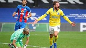 Alexis Mac Allister rascó un punto para el Brighton en el último suspiro contra el Crystal Palace