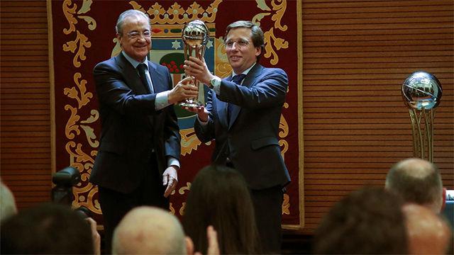 Almeida recibe al Real Madrid de baloncesto tras conquistar Copa del Rey