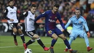 André Gomes no ha encajado en el puzzle téctico de Ernesto Valverde