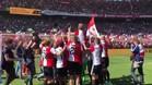 Así celebró el Feyenoord el título de la Eredivisie