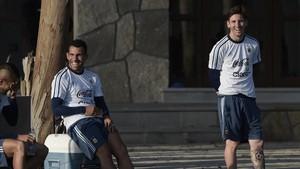 Carlos Tévez y Leo Messi han compartido vestuario en la selección de Argentina