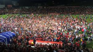 La euforia se desbordó en Montilivi tras el pitido final