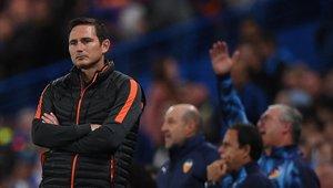 Frank Lampard no tuvo un buen debut como DT en la Champions League