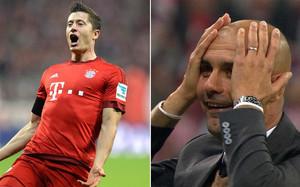 Ni Guardiola podía creer la hazaña de Lewandowski ante el Wolfsburgo