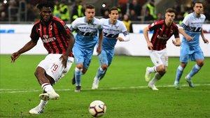 Kessié dio la victoria al Milan ante la Roma desde el punto de penalti
