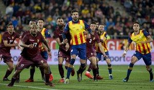 Las imágenes del partido amistoso entre las selecciones de Catalunya y Venezuela disputado en el estadio Montilivi, Girona.