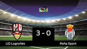El Logroñés apabulla al Peña Sport (3-0)