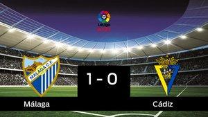 El Málaga derrotó al Cádiz por 1-0