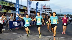 Marc y Àlex Márquez, en la última edición de la Allianz Night Run