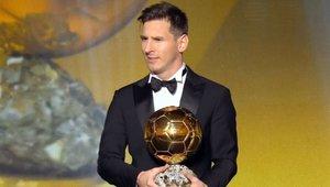 Messi fue el primer futbolista en conquistar un repóker de oro