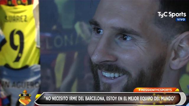 Messi no se ve lejos de Barcelona