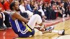 El momento de la lesión de Kevin Durant