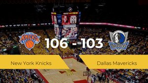 New York Knicks se queda con la victoria frente a Dallas Mavericks por 106-103