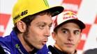 Rossi habla en Motegi, ante la atenta mirada de Márquez