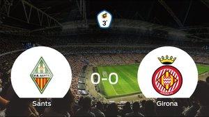 El Sants y el Girona B no encuentran el gol y se reparten los puntos (0-0)