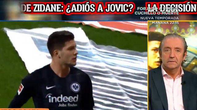 El sorprendente ataque de Pedrerol a Zidane: Si echa a Jovic, debe dimitir él