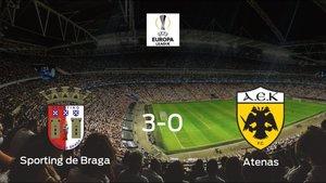 El Sporting de Braga se pasea frente al AEK Atenas sin apenas obstáculos (3-0)