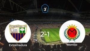 Triunfo 2-1 del Extremadura B frente al Montijo