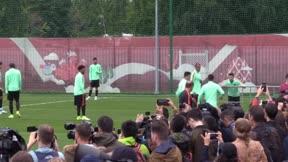 El último entrenamiento de Cristiano con Portugal