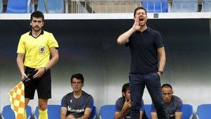 Xabi Alonso dirige al filial de la Real Sociedad