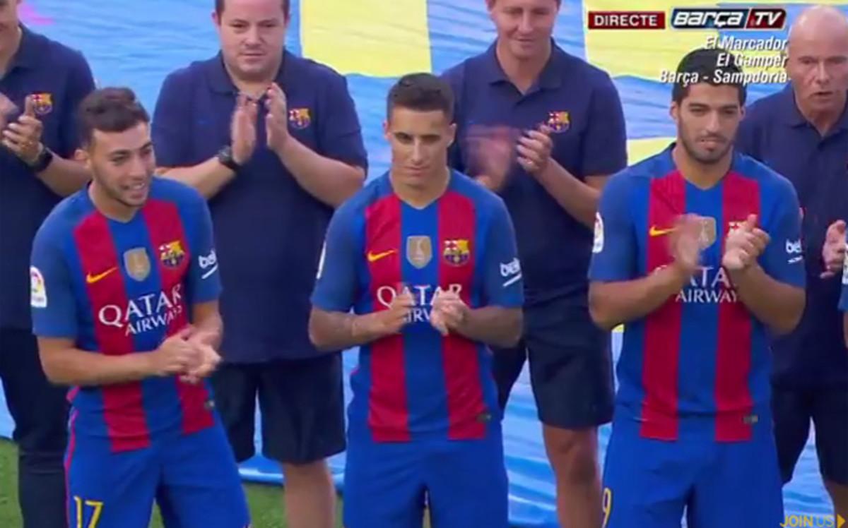 Cristian Tello Se Presento Con El FC Barcelona Sin Dorsal