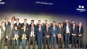 Todos los premiados en la Gala del RACC