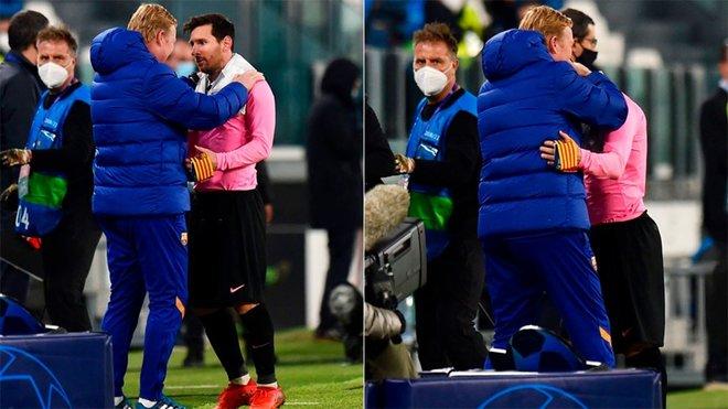 Koeman y Messi: abrazo para la unidad y la esperanza