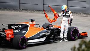 Abandono de Fernando Alonso