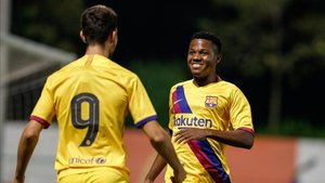 Ansu y Marqués fueron los goleadores de la primera parte