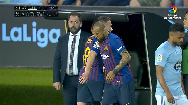 Arturo Vidal volvió a entrar por Arthur ante el Celta