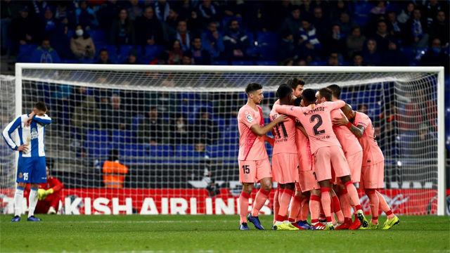 Así fue la exhibición del Barça ante el Espanyol