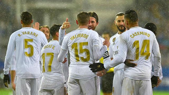 Así fue la lluvia de goles del Madrid ante el Eibar