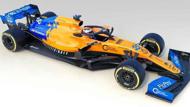 Así es el McLaren MCL34, el nuevo coche de Carlos Sainz