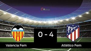 El Atlético de Madrid Femenino vence en el Antonio Puchades al Valencia Femenino (0-4)