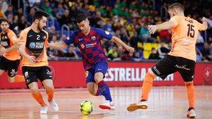 El Barça eliminó al Burela en cuartos en la pasada Copa del Rey