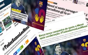 La campaña del FC Barcelona en defensa de Leo Messi tuvo un gran impacto en el mundo