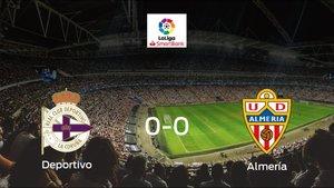 El Deportivo y el Almería firman las tablas tras empatar a cero