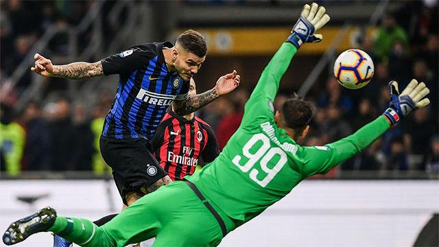 El desmarque magistral de Icardi en el derbi de Milán