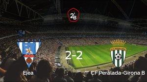 El Ejea y el Peralada-Girona B consiguen un punto tras empatar a 2 en su último partido