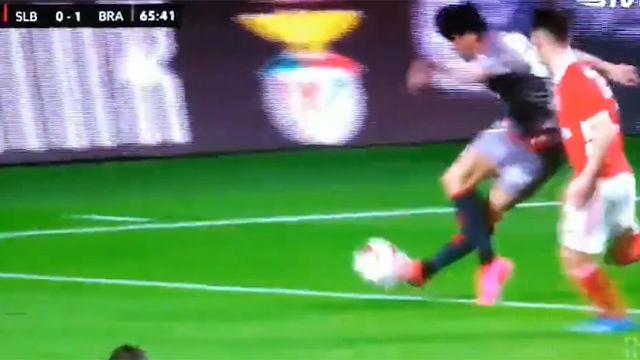 La espectacular rabona de Trincao que casi termina con gol del Braga