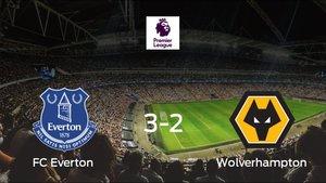 El Everton gana 3-2 en su estadio ante el Wolverhampton Wanderers