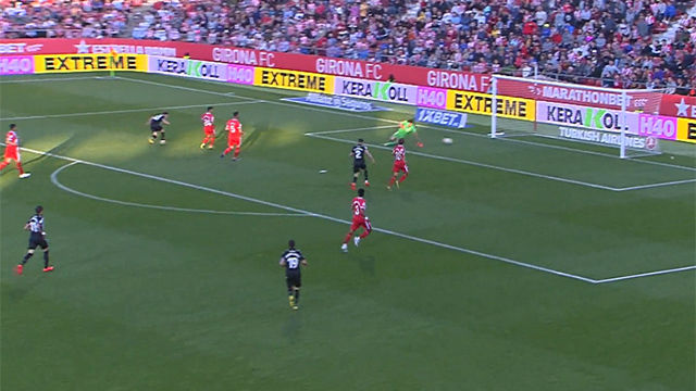 El gol de Bardhi que envía virtualmente al Girona a Segunda