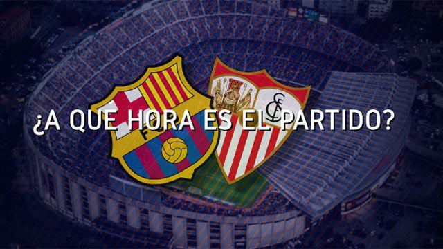Horario mundial del FC Barcelona - Sevilla