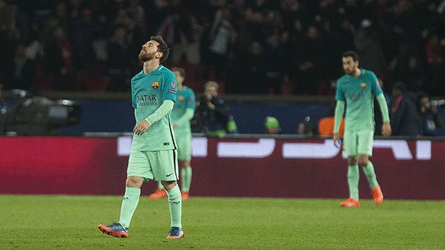 Las mejores imágenes del PSG - Barça (4-0)