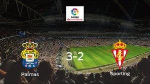 Las Palmas consigue la victoria en casa frente al Real Sporting (3-2)