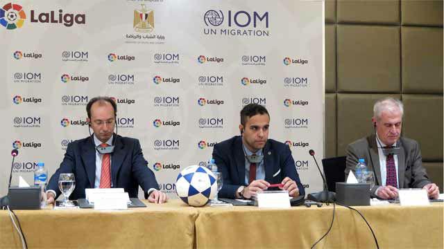 La Liga busca evitar el tráfico de menores con la firma de un acuerdo con la OIM