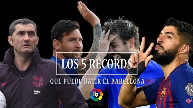 Los 5 récords que puede batir el Barcelona
